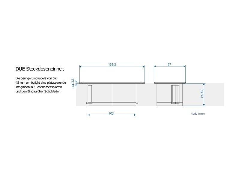 bachmann due 2x steckdose mit stromzuleitung. Black Bedroom Furniture Sets. Home Design Ideas