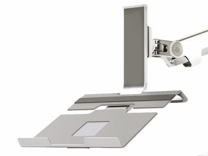 humanscale m2 m8 laptop halter silber online kaufen. Black Bedroom Furniture Sets. Home Design Ideas
