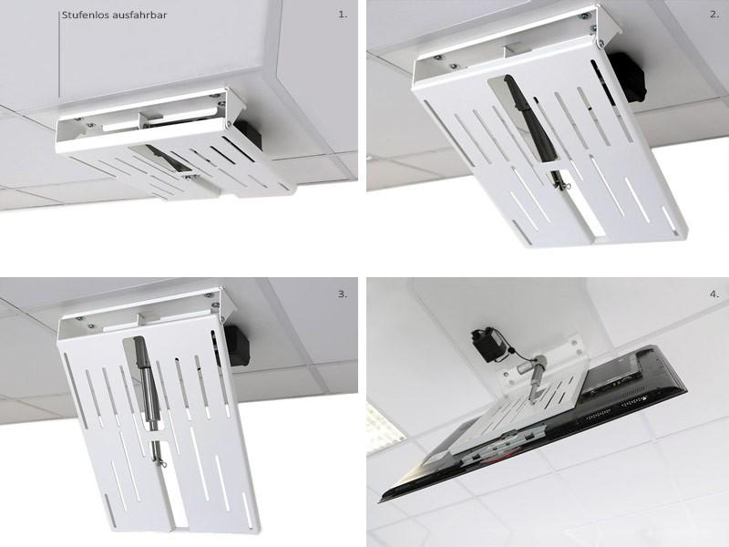 Monlines Mmotion Flip Elektrische Weisse Tv Deckenhalterung
